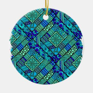 Wellcoda Chinese Style Pattern Crazy Vibe Round Ceramic Decoration