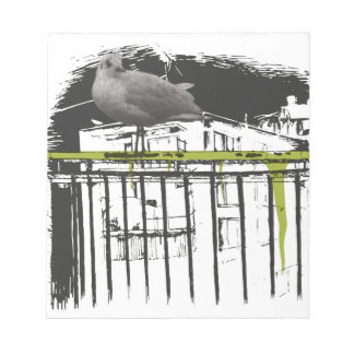 Wellcoda City Bird Tree Branch Urbanistic Notepad