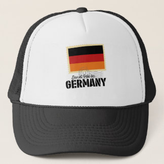 Wellcoda Classic Germany Flag World Map Trucker Hat