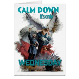 Wellcoda Classic Wednesday Painting Art Greeting Card