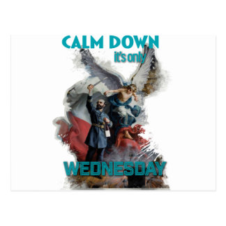 Wellcoda Classic Wednesday Painting Art Postcard