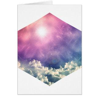 Wellcoda Cloud Sky Hexagon Love Shape Fun Card