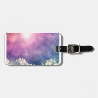Wellcoda Cloud Sky Hexagon Love Shape Fun Luggage Tag
