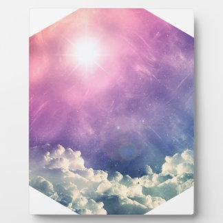 Wellcoda Cloud Sky Hexagon Love Shape Fun Plaque