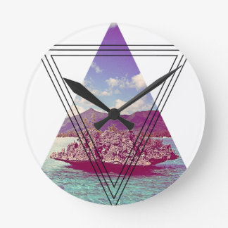 Wellcoda Coral Island Holiday Summer Fun Wallclocks