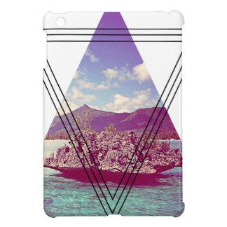 Wellcoda Coral Island Triangle Paradise iPad Mini Cover