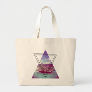 Wellcoda Coral Island Triangle Paradise Large Tote Bag