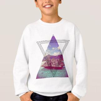 Wellcoda Coral Island Triangle Paradise Sweatshirt