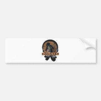 Wellcoda Country Headphone Music Guitar Bumper Sticker