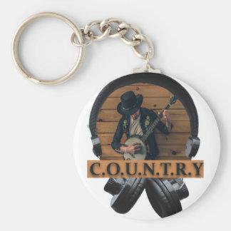 Wellcoda Country Headphone Music Guitar Key Ring