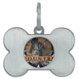 Wellcoda Country Headphone Music Guitar Pet Tag