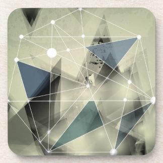 Wellcoda Crazy Abstract Print Geometric Beverage Coaster