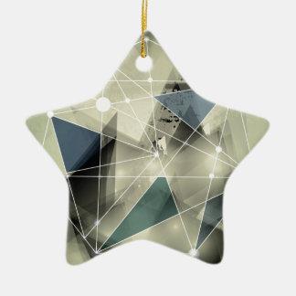 Wellcoda Crazy Abstract Print Geometric Christmas Ornament