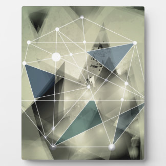 Wellcoda Crazy Abstract Print Geometric Plaque