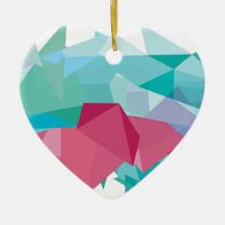 Wellcoda Crazy Abstract Shape Future Life Ceramic Heart Decoration