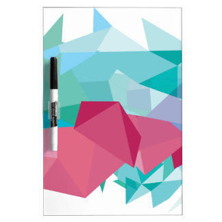 Wellcoda Crazy Abstract Shape Future Life Dry Erase Board