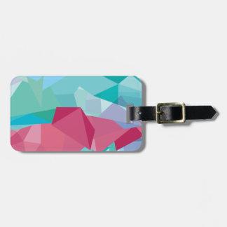 Wellcoda Crazy Abstract Shape Future Life Luggage Tag