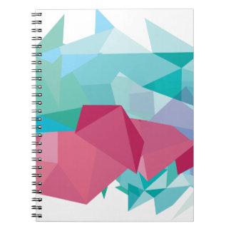 Wellcoda Crazy Abstract Shape Future Life Notebook