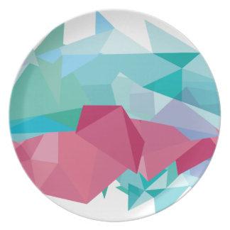 Wellcoda Crazy Abstract Shape Future Life Plate