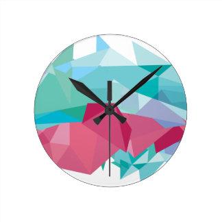 Wellcoda Crazy Abstract Shape Future Life Round Clock