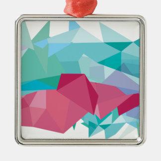 Wellcoda Crazy Abstract Shape Future Life Silver-Colored Square Decoration