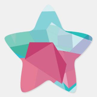 Wellcoda Crazy Abstract Shape Future Life Star Sticker