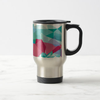 Wellcoda Crazy Abstract Shape Future Life Travel Mug