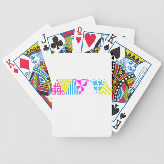 Wellcoda Crazy Aztec Colour Fun 80's Look Bicycle Playing Cards