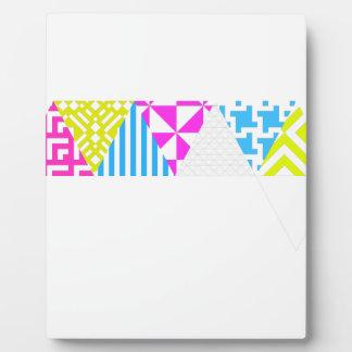 Wellcoda Crazy Aztec Colour Fun 80's Look Plaque