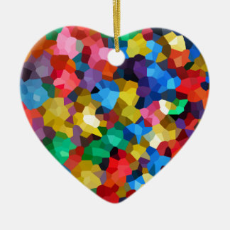 Wellcoda Crazy Colour Ball Pool Candy Life Ceramic Heart Decoration