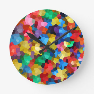 Wellcoda Crazy Colour Ball Pool Candy Life Round Clock
