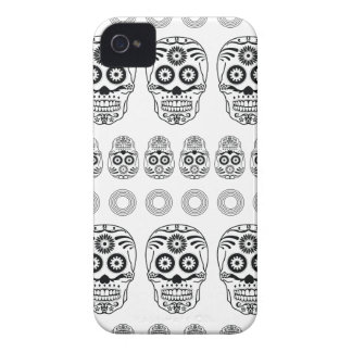 Wellcoda Crazy Epic Skull Print Small Face iPhone 4 Cover
