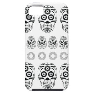 Wellcoda Crazy Epic Skull Print Small Face iPhone 5 Case