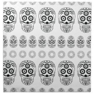 Wellcoda Crazy Epic Skull Print Small Face Napkin