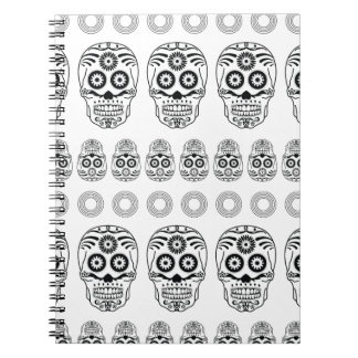 Wellcoda Crazy Epic Skull Print Small Face Notebook