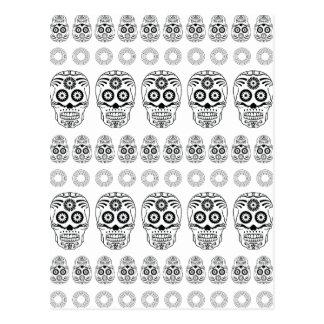 Wellcoda Crazy Epic Skull Print Small Face Postcard