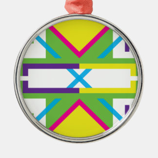 Wellcoda Crazy Fresh Summer USA Rave Beat Silver-Colored Round Decoration