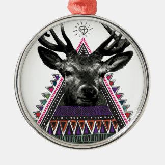 Wellcoda Crazy Tribal Deer Stag Animals Christmas Ornament