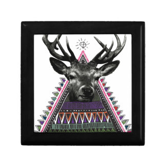 Wellcoda Crazy Tribal Deer Stag Animals Gift Box