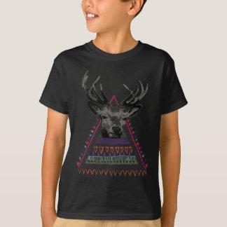 Wellcoda Crazy Tribal Deer Stag Animals T-Shirt