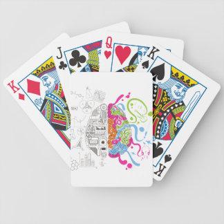 Wellcoda Creative Brain Mind Master Side Bicycle Playing Cards