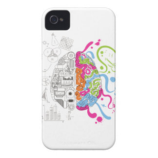 Wellcoda Creative Brain Mind Master Side iPhone 4 Case-Mate Case