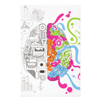 Wellcoda Creative Brain Mind Master Side Stationery Design