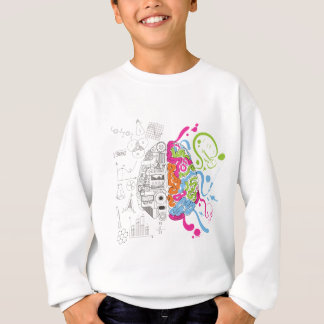 Wellcoda Creative Brain Mind Master Side Sweatshirt