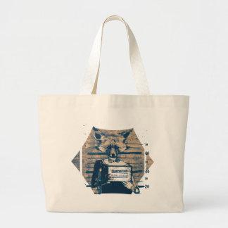 Wellcoda Criminal Fox Crime Offender Foxy Large Tote Bag