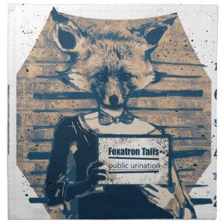 Wellcoda Criminal Fox Crime Offender Foxy Napkin