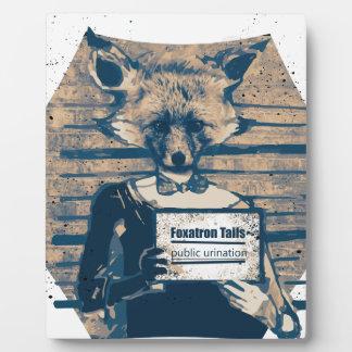 Wellcoda Criminal Fox Crime Offender Foxy Plaque