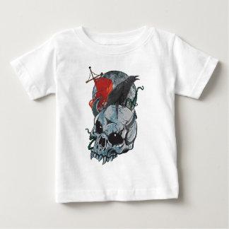 Wellcoda Crow On Skull Head Full Moon Baby T-Shirt
