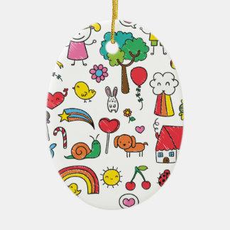 Wellcoda Cute Little Kids Dream Love Life Christmas Ornament