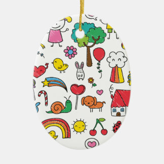 Wellcoda Cute Little Kids Dream Love Life Christmas Ornament